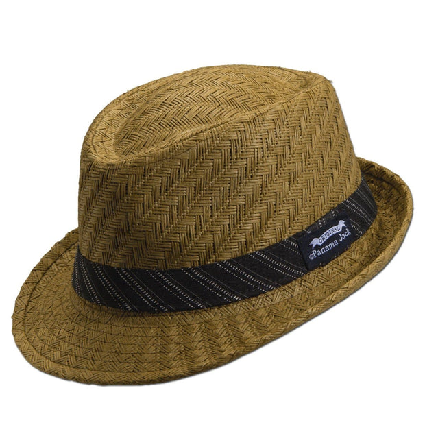 Striped Band Fedora Hat