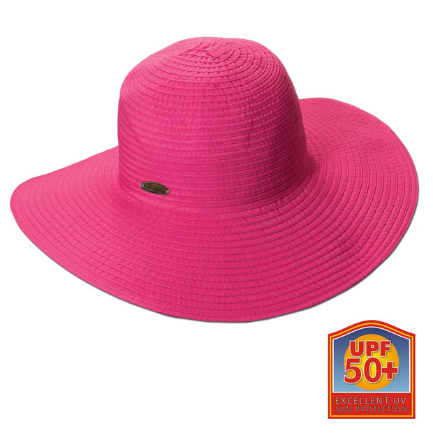 Ribbon Round Crown Sun Hat