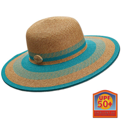 Natural Two-Tone Big Brim Sun Hat