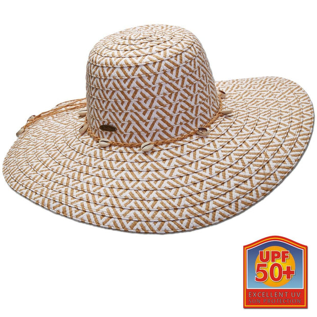 Two-Tone Paper Braid Big Brim Sun Hat
