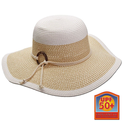 Paper Braid and Ribbon Rope Sun Hat