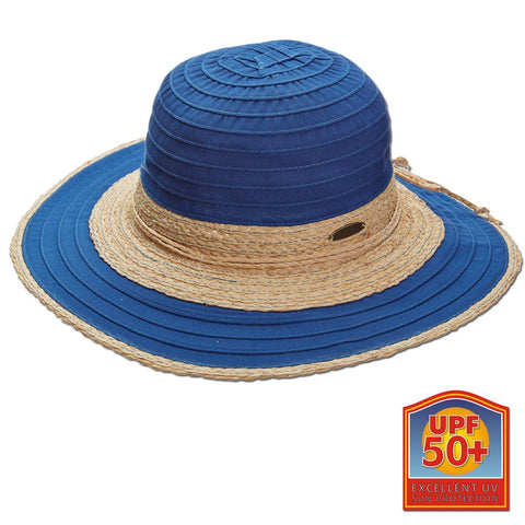 Raffia Straw and Ribbon Big Brim Sun Hat
