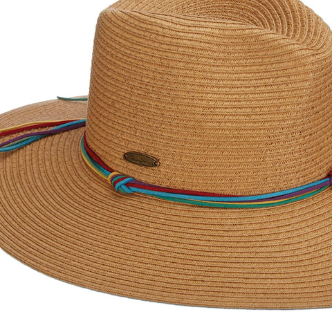 Faux Suede Band Paper Braid Safari Sun Hat