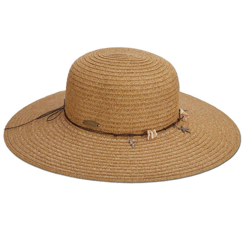 Beach Shells Paper Braid Sun Hat