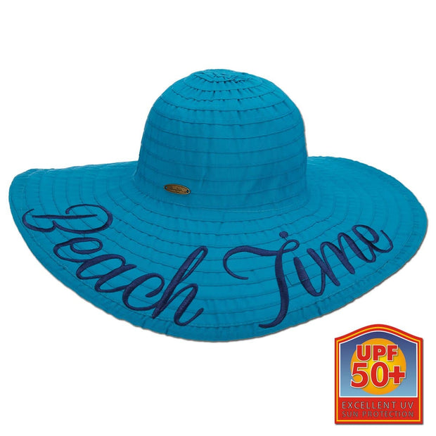 Beach Time Ribbon Big Brim Sun Hat