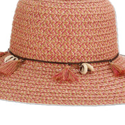 Paper Braid Shells and Tassels Sun Hat