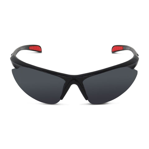 Semi-Rimless Sport Wrap Sunglasses