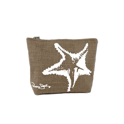Starfish Canvas Beach Cosmetic Bag