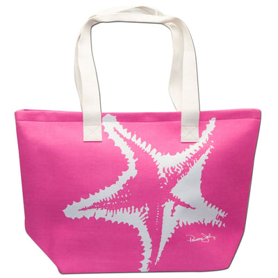Starfish Canvas Beach Tote Bag