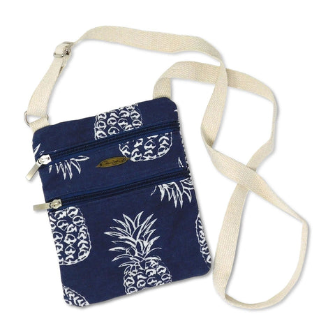 Pineapple Print Crossbody Beach Tote Handbag