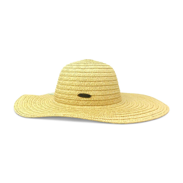Starfish Paper Braid Round Crown Sun Hat