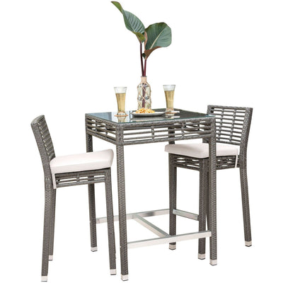Graphite 3 PC Pub Set with Cushions