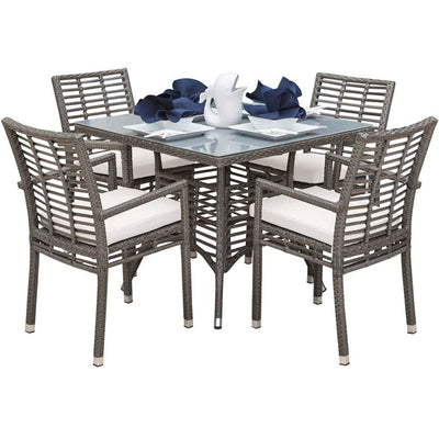 Graphite 5 PC Arm Chairs Dining Set with Cushions
