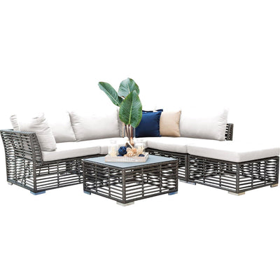 Graphite 6 PC Sectional with Cushions