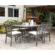 Graphite 7 PC Side Chairs Dining Set with Cushions