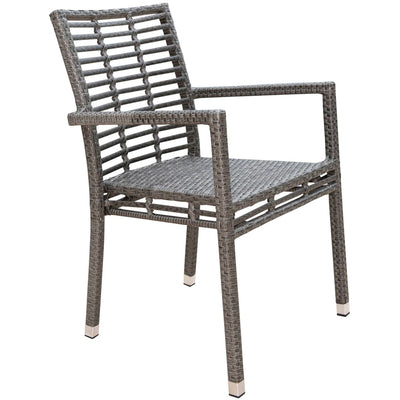 Graphite Stackable Arm Chair