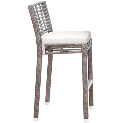 Graphite Stackable Barstool with Cushion