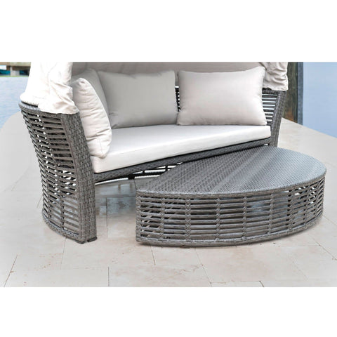 Graphite Canopy Daybed with Cushions