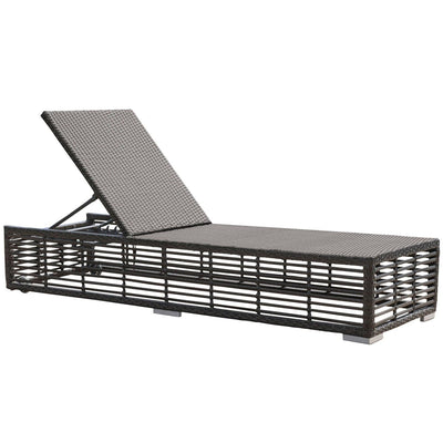 Graphite Chaise Lounge with Wheels