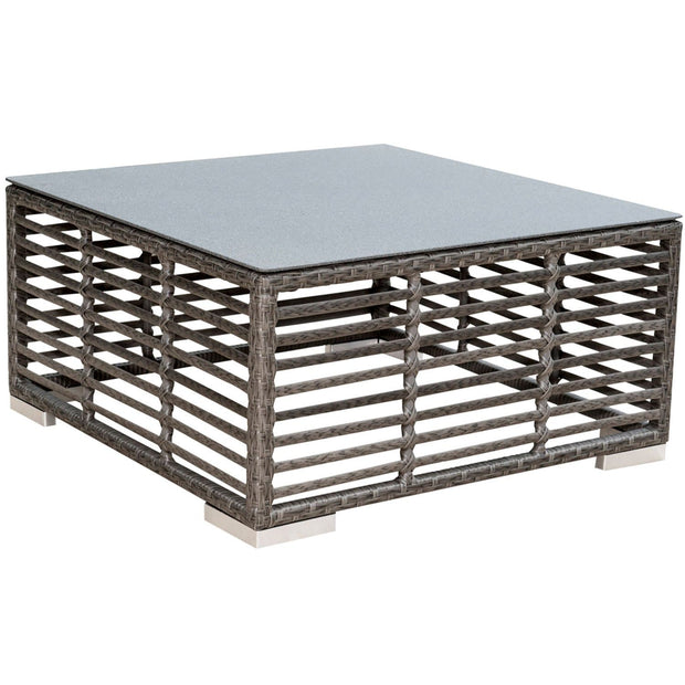 Graphite Square Coffee Table with Glass
