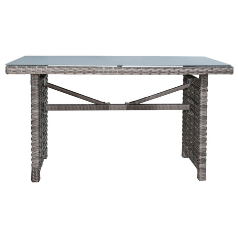 Graphite Rectangular High Coffee Table with Frost Glass