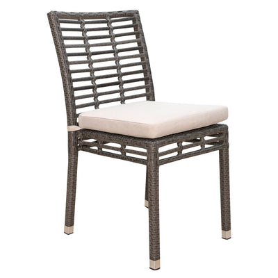 Graphite Stackable Side Chair with Cushion