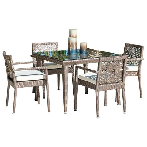 Maldives 5 PC Arm Chairs Dining Set with Cushions