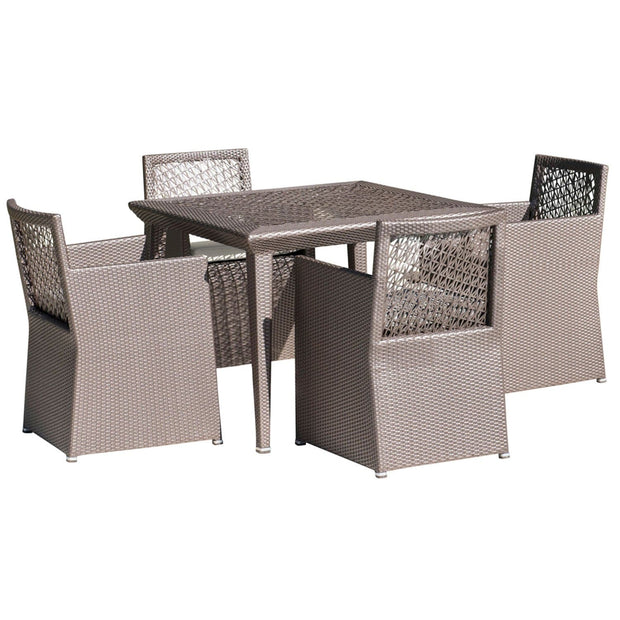 Maldives 5 PC Woven Dining Set with Cushions