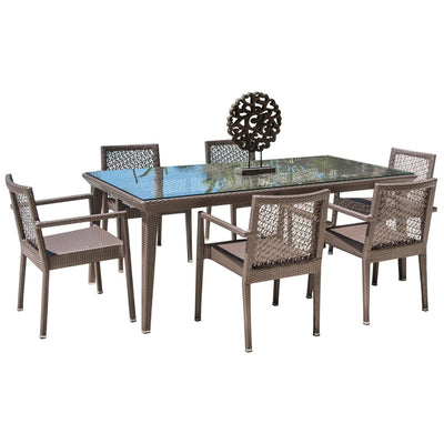 Maldives 7 PC Dining Set with Cushions