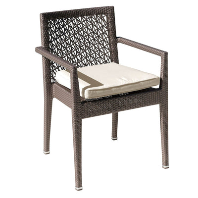 Maldives Stackable Arm Chair with Cushion