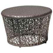Maldives Round End Table with Glass