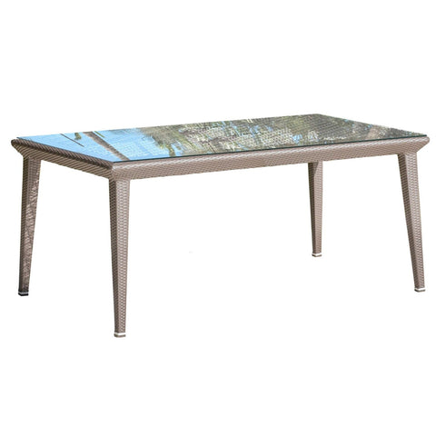 Maldives Rectangular Table with Glass