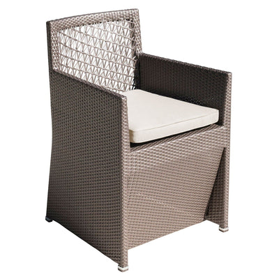 Maldives Woven Dining Chair with Cushion