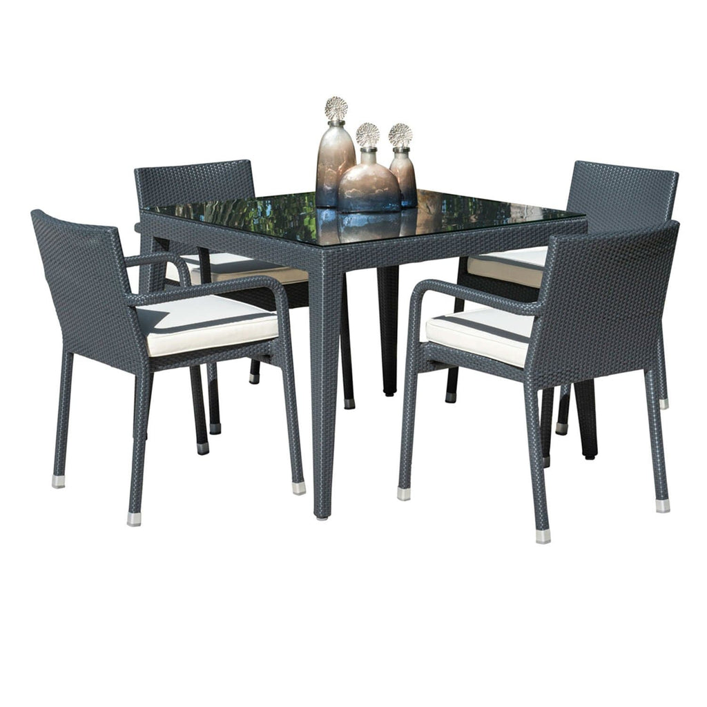 Onyx 5 Pc Dining Set With Cushions Outdoor Patio Furniture Panama Jack