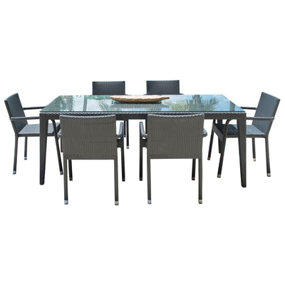 Onyx 7 PC Dining Set with Cushions