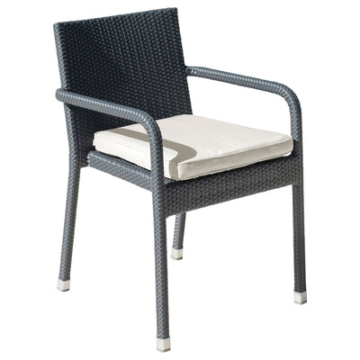 Onyx Stackable Arm Chair with Cushion