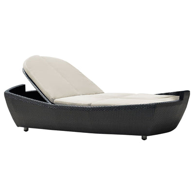 Onyx Double Folding Chaise Lounge with Cushion