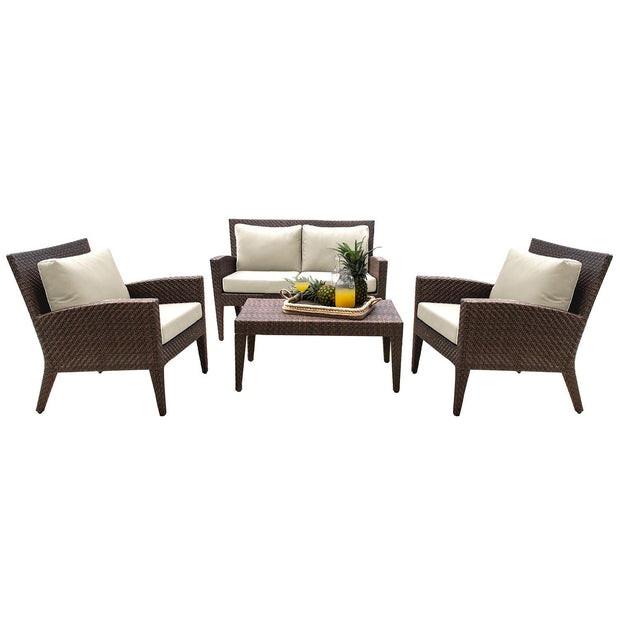 Oasis 4 PC Seating Set with Cushions