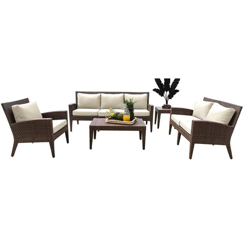 Oasis 5 PC Seating Set with Cushions