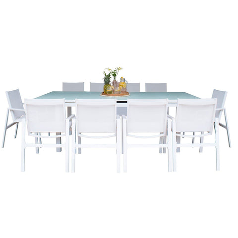 Mykonos 11 PC Rectangular Dining Set