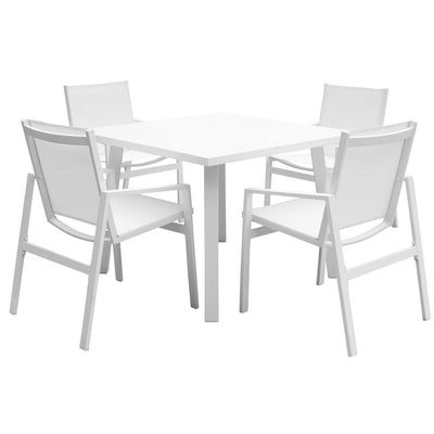 Mykonos 5 PC Square Dining Set