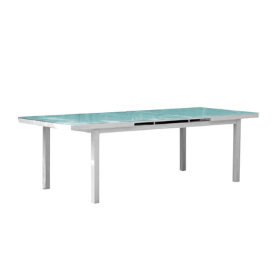 Mykonos Extendable Glass Rectangular Table