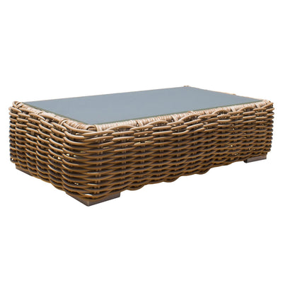 Cancun Coffee Table with Grey Tempered Glass