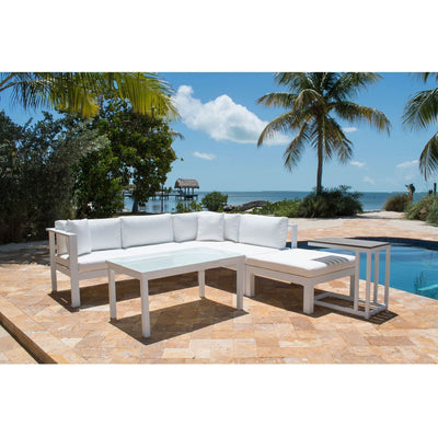 Sandcastle White 5 PC Sectional Set