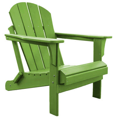Heavy Duty Polyresin Lime Adirondack Chair