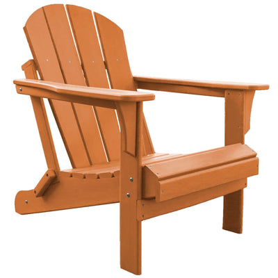 Heavy Duty Polyresin Orange Adirondack Chair