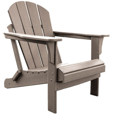 Heavy Duty Polyresin Taupe Adirondack Chair