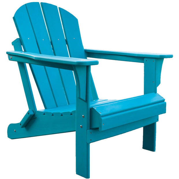 Heavy Duty Polyresin Teal Adirondack Chair