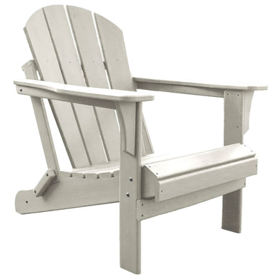 Heavy Duty Polyresin White Adirondack Chair