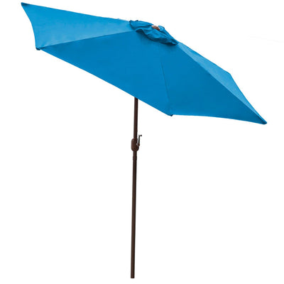 Blue 9 ft Aluminum Patio Umbrella